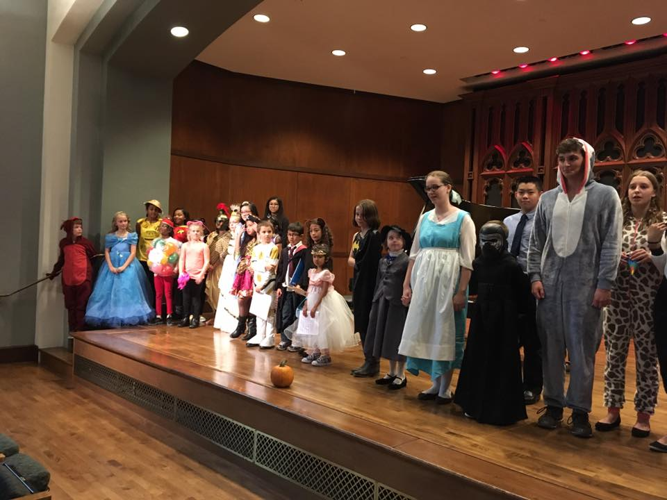 Duet Festival participants in costume